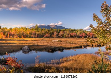 A view of Mount Katahdin from compass pond