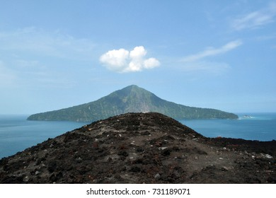 The view of Mount Krakatau, whose eruption in 1800s is so legendary. The explosion is considered to be the loudest sound ever heard in modern history. Pic was taken in Lampung, July 2014.