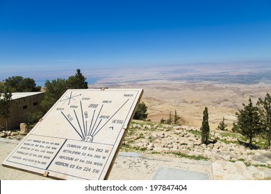 View in Mount Nebo overlooking the holy land and the dead sea,Jordan