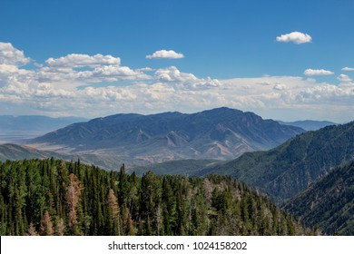 View from Mount Nebo Scenic Byway in Utah.