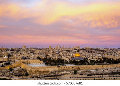 View from the Mount of Olives to the Old City Jerusalem