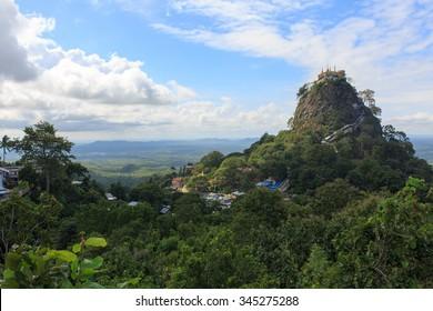 View of Mount Popa, Bagan , Myanmar