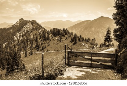 view from mount puerschling near oberammergau