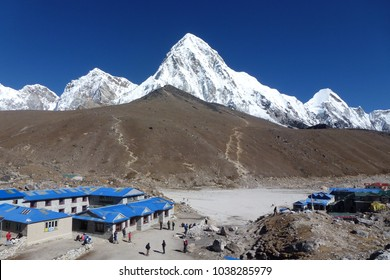 View of Mount Pumori seen from Gorak Shep, Everest Base Camp trek, Nepal