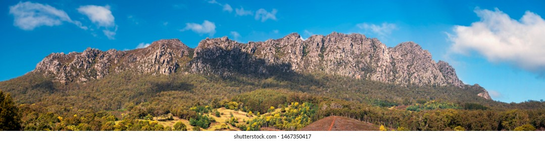 View of Mount Roland in Tasmania during the day.