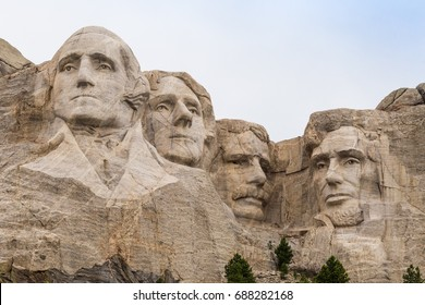 A view of Mount Rushmore, South Dakota