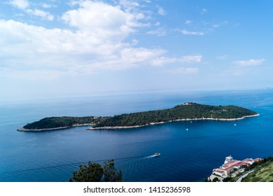 View from Mount sdr on Otok Lokrum, a small Island near Dubrovnik Croatia