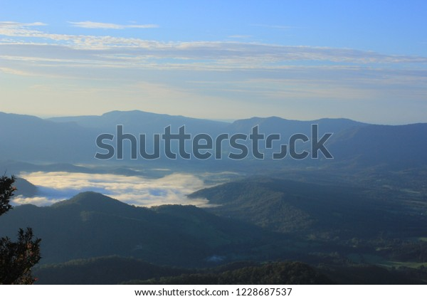 View from Mount Warning on Australian Gold Coast at Sunrise