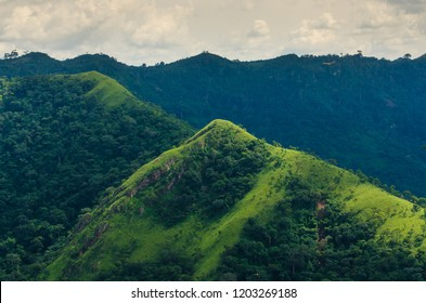 A view from mountain Afadjato, Volta Region, Ghana.