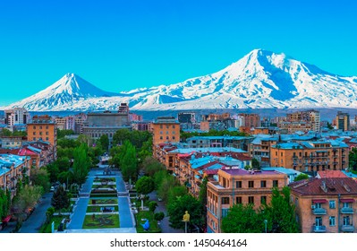 view of mountain Ararat and Yerevan city 23/4/2018