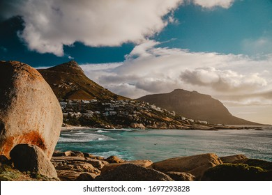 view of mountain and beach in Cape Town