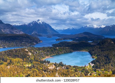 View from the mountain Campanario, Bariloche, Patagonia, Argentina
