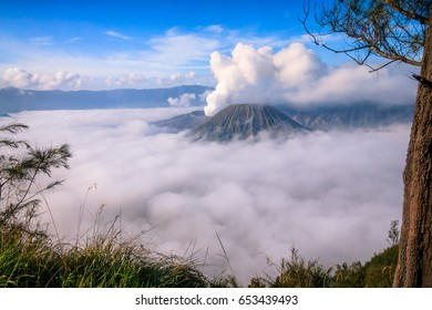 View of a mountain in East Java, Indonesia