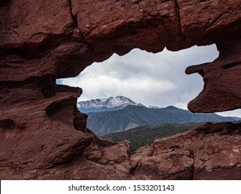 view of mountain from Garden of the Gods