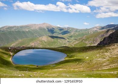 View of mountain and lake, landscsape. Bayburt, Turkey.