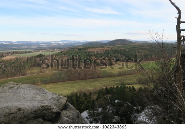 a view from the mountain Lilienstein