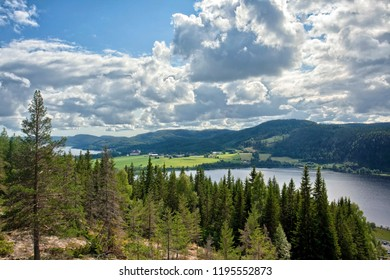 View from a mountain, north Sweden