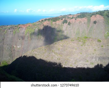 View from mountain on the island of Lanai, Hawaii