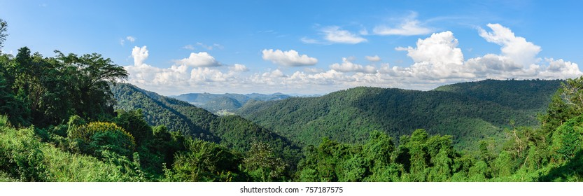 View of mountain on most cloud HDR style,Khao yai at nakhonratchasima,Travel at thailand