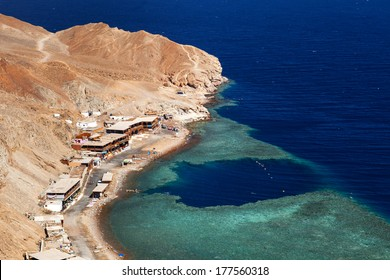 view from mountain to Red sea