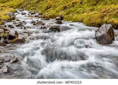 View of mountain river in Iceland