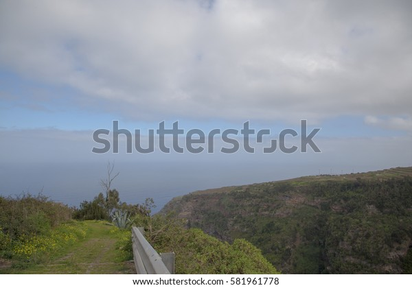 view from the mountain slope to the sea
