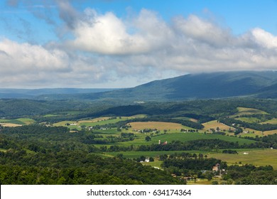 View from the mountain top in central pennsylvania