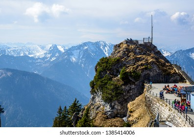View from the mountain Wendelstein by Bayrischzell. Bayern (Bavaria), Germany