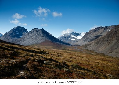 A view in mountainous terrain in norther Norway.