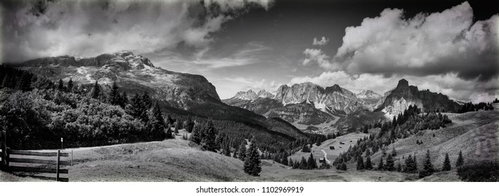 view of the mountains of Alta Badia  - Italy