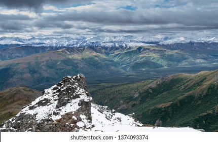 View of mountains in Denali national park, Alaska, USA