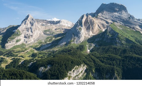 A view at the mountains of the French Pyrenees.