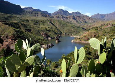 View of  mountains of the island of Gran Canaria