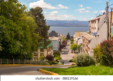 View of Mountains and Lake in Bariloche, Argentina