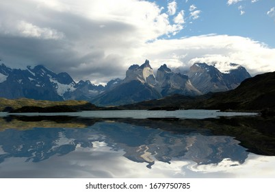 View of the mountains in National Park Torres del Paine, Chile