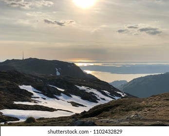 View from the mountains near Bergen City in Norway