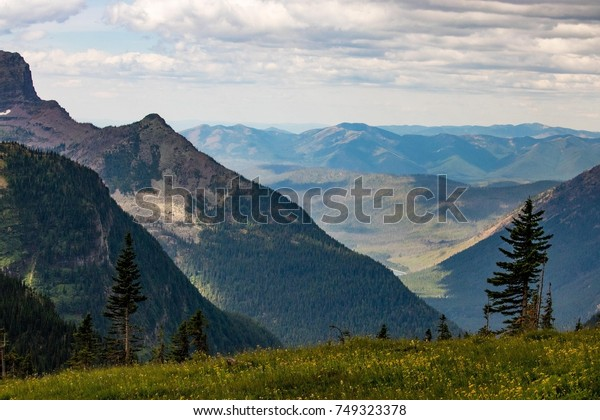 View of Mountains from Winding Road in Montana