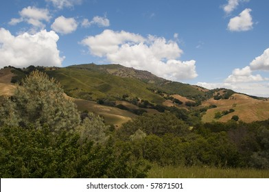 View of Mt. Diablo from inside the state park, California.