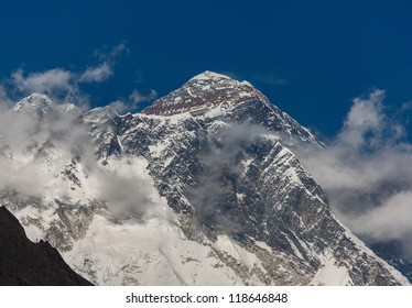 View of the Mt. Everest (8848 m) from South - Nepal, Himalayas