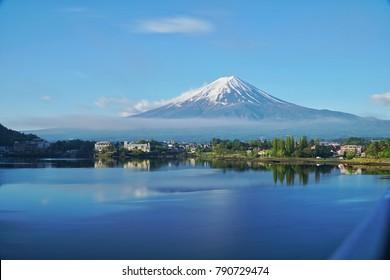 View of Mt. Fuji and Lake Kawaguchiko Tokyo, Japan Summer