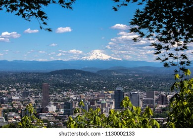 View of Mt. Hood from Portland, Oregon