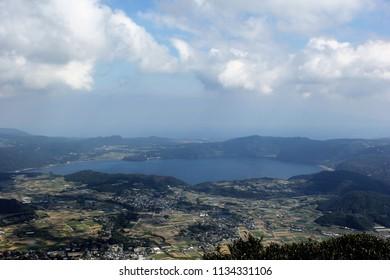 View from Mt. Kaimondake Kagoshima prefecture, Japan