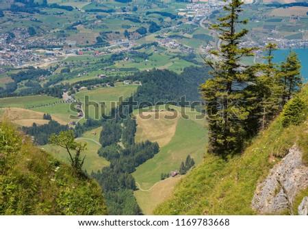 view mt rigi switzerland summer rigi stock photo edit now