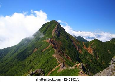 View of Mt. Yatsugatake in summer, Nagano, Japan