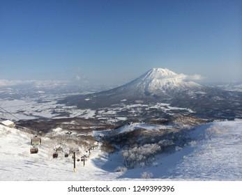 view of mt yotei in niseko