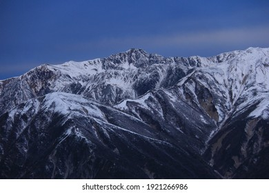 View of Mt.suisho from Mt.Tsubakuro, nagano prefecture,winter in Japan