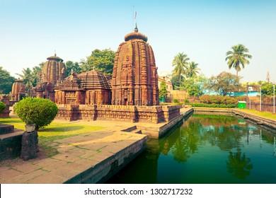 View of Mukteshwara Temple - 10th century Hindu temple of Lord Shiva. Bhubaneswar, Orissa, India
