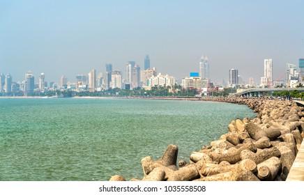View of Mumbai from Marine Drive - Maharashtra, India