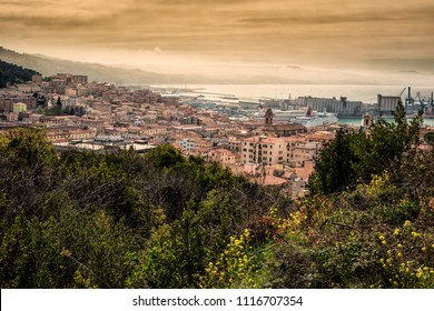 View of the municipality of Ancona, in the province of Ancona, in the Marche region, in Italy