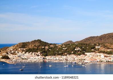 View of the municipality of El Port de la Selva, in Costa Brava. Girona, Catalonia